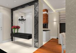 Nowoczesny apartament z kroplą glamour.