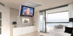 Salon z TV ukrytym w suficie