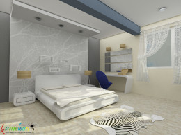 sypialnia - niebieska
