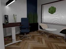 Pomieszczenie pracy z kącikiem dla gości