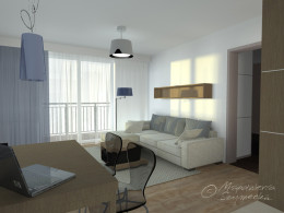 Salon o pow. 22,5 m2