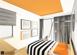 Sypialnia w domku jednorodzinnym w Częstochowie