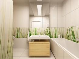 Łazienka zanurzona w trawie