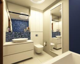 Łazienka z kobaltem