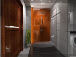 Łazienka z ciepłym akcentem