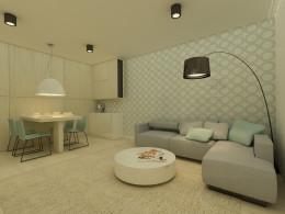 pokój dzienny - mieszkanie na Młocinach