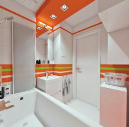 kolorowo-owocowo w łazience