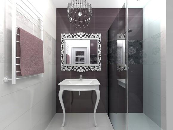 łazienka W Stylu Glamour Ecke Studio Projektowania Wnętrz