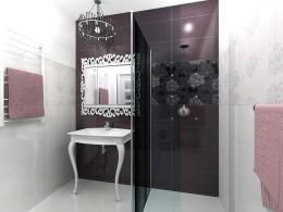 Łazienka w stylu Glamour