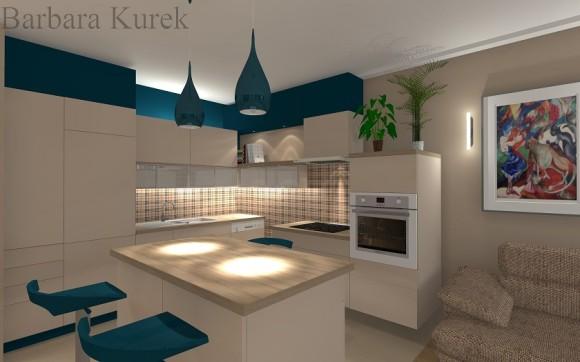 kuchnia w salonie  Barbara Kurek  e aranżacje pl -> Kuchnie W Salonie