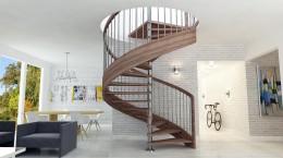 Projekt schodów w salonie