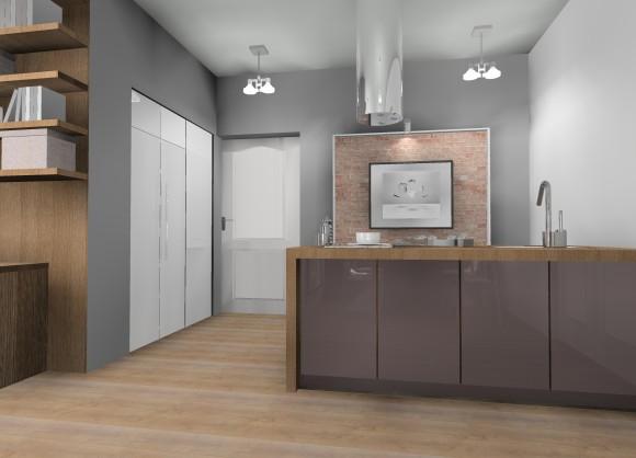 Mieszkanie w kamienicy  kuchnia  Pracownia Aranżacji   -> Kuchnia Z Obrazem