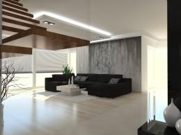 Projekt wnętrz w domu jednorodzinnym okolice Szczecina
