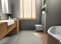 Szara łazienka eko