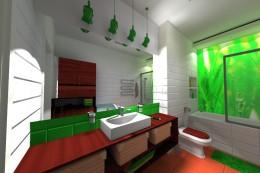 Bamboo łazienka