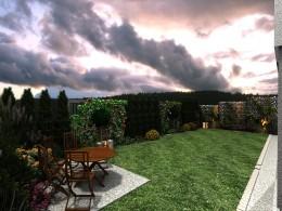 Ogród okolice Krakowa