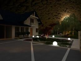 Ogród okolice Krakowa II  oświetlenie nocne