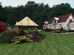 Ogród okolice Krakowa III - altana