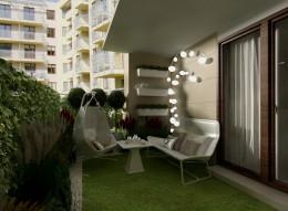 Mały ogródek przy mieszkaniu - koncepcja I