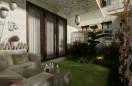 Mały ogródek przy mieszkaniu - koncepcja II