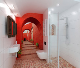 wakacyjna mała łazienka