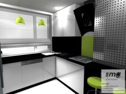 Projekt wnętrza mieszkania, Drawsko Pom.