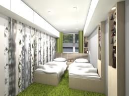 sypialnia w mieszkaniu w Katowicach
