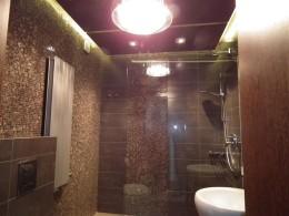 brązowa łazienka