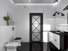 łazienka w pepitkę