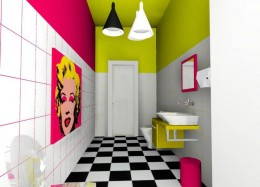 Kolorowa łazienka dla odważnych