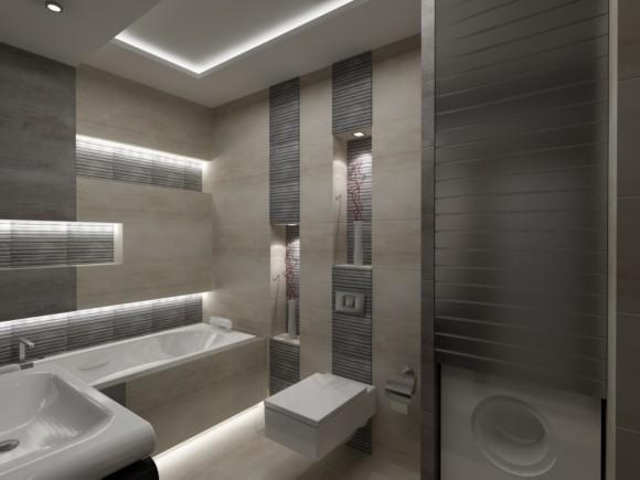 Nowwoczesna łazienka W Mieszkaniu W Warszawie Jakub Włodarczyk E