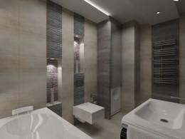 Nowwoczesna łazienka w mieszkaniu w Warszawie