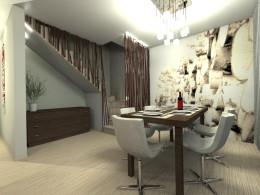 salon z jadalnią w domu jednorodzinnym w Chorzowie