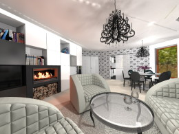 dom w stylu glamour na Jurze