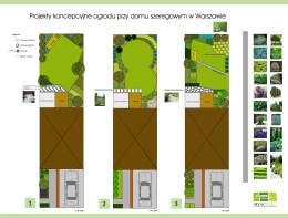 Ogród przy szeregowcu - Ursynów - Warszawa