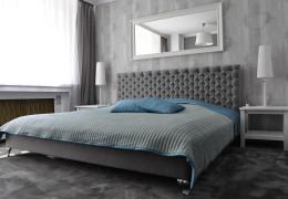Salon i sypialnia w stylu glamour
