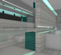 Łazienka  w stylu minimalistycznym V