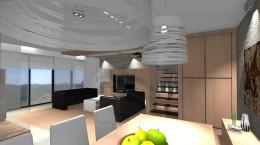 Salon z jadalnią o pow. 60m2 styl nowoczesny