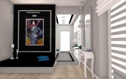 Salon z obrazem