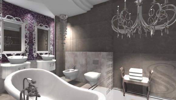 łazienka W Stylu Glamour Iv Wwwprojekty Aranzacjepl