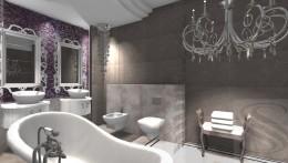 Łazienka w stylu glamour IV