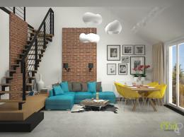 mieszkanie w stylu industrailnym