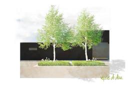 Biało - czarny ogród na Śląsku
