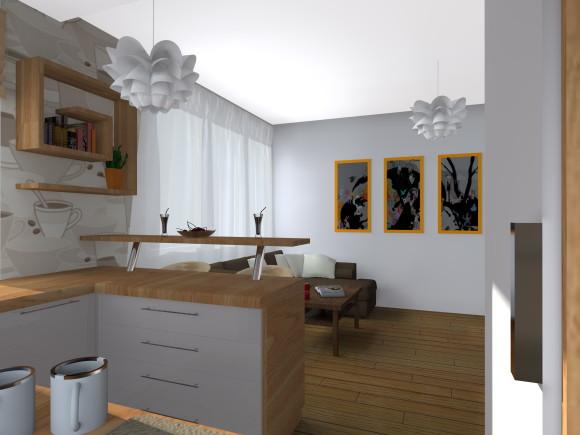 kuchnia otwarta na salon  Kamila Macias  e aranżacje pl -> Kuchnia Otwarta Na Salon Jak Urządzić