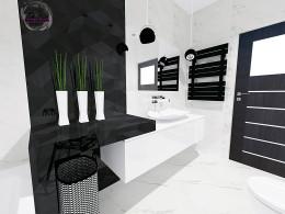 Bialo czarna łazienka