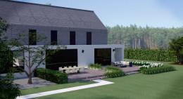 Duży nowoczesny ogród