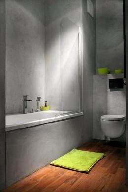 Ciepło/zimno - teak i beton