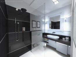 łazienka przy sypialni o pow. 3,9 m2
