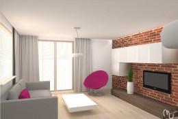 Mieszkanie z kolorowymi akcentami