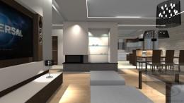 Projekt salony i jadalnia